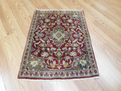 Ca1930 VG DY ANTIQUE PERSIAN CLASSIC SHADSAR KASHAN 2x2.8 ESTATE SALE RUG