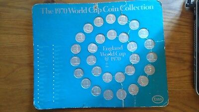 COMPLETE Collectors  - The 1970 World Cup Coin Collection ESSO - 30 Coins