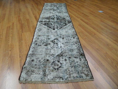 Ca1880 VGDY ANTIQUE PERSIAN HERIZ SERAPI VISS KARACHE 2.7x10.1 ESTATE SALE RUG
