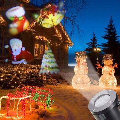 Christmas LED Lights Santa Claus Laser Projector Landscape Lamp Xmas For Outdoor