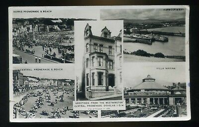 DOUGLAS Isle of Man Grereting from The Westminster Hotel / multi views  RP