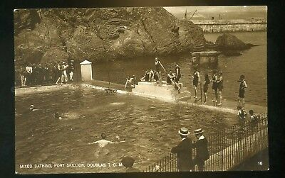 DOUGLAS / PORT SKILLION Isle of Man Mixed Bathing in Sea Baths  RP