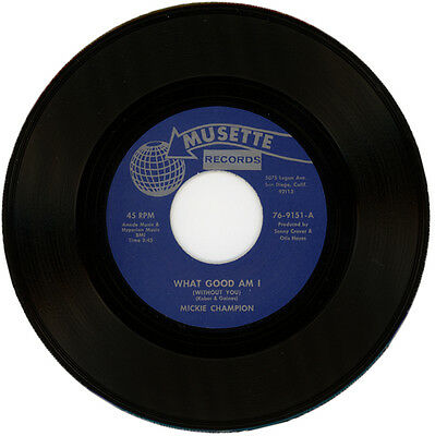 """Mickie Champion  """"what Good Am (Without You)"""" R&b / Northern Soul"""