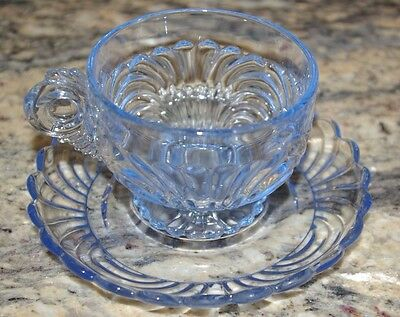 Lot Of 5 Sets Cambridge Caprice Caprese Moonlight Blue Cups And Saucers