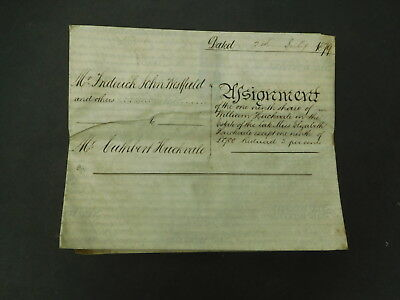 Antique Vellum Parchment Indenture dated 1879 Woburn and High Wycombe