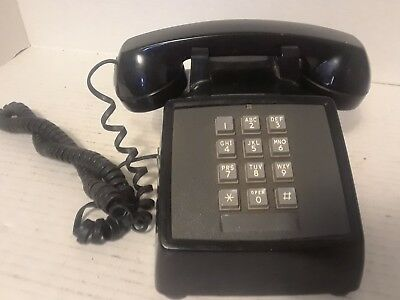 Vintage WESTERN ELECTRIC Southern Bell Touch Tone Desk Telephone Black