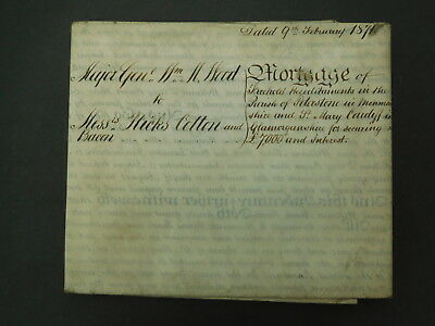 4 Page Antique Vellum Parchment Indenture dated 1871 St Mary Cardiff
