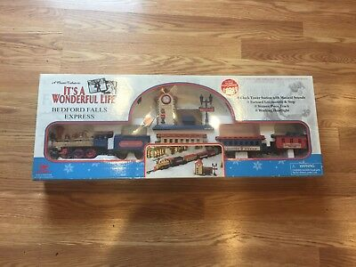 "Bedford Falls Express 2002 Train Set ""It's A Wonderful Life""by NEW BRIGHT #179"