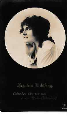 Fraulein Wildfang - old German post card
