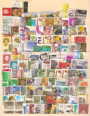 a stock page of with a large lot of used stamps from the Netherlands.(N-3)