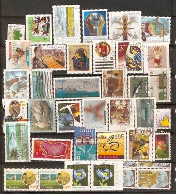 a stock page of recent used stamps from Canada.(RC-7)
