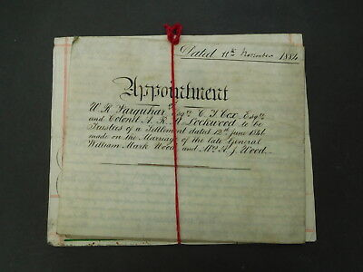 Antique Vellum Parchment Indenture dated 1884 Whitley Abbey Coventry 2 pieces