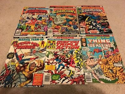 Lot of 21 Marvel Comics! Bronze Age Guardians of the Galaxy 2nd Spiderwoman!!