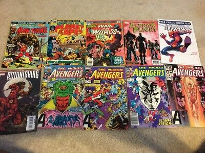 Large lot of 100 Marvel Comics! Bronze Age Avengers FF DD Conan X-men Hulk more!