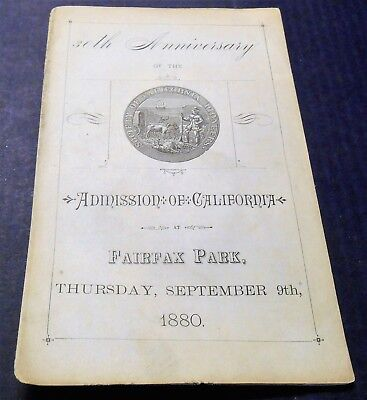 1880 3oth Anniversary California Statehood Program History  San Quentin Ferry