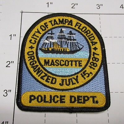 City Of Tampa Police Dept Tpd Sailing Ship Mascotte Sharp Colorful Florida Patch