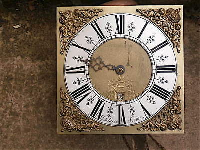 11x11 inch 30HR   c1730 LONGCASE  CLOCK dial + movement