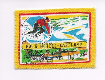 Malå Hotell Lappland Province Sweden Printed on cloth Travel Souvenir Patch