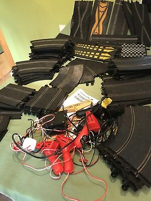 Large Used Scalextric Vintage Classic Set Of Track Pieces  Set Up Job Lot Bundle