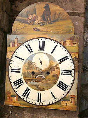 HUGE >>>>16x23 inch 8DAY  c1850 LONGCASE  CLOCK dial + movement