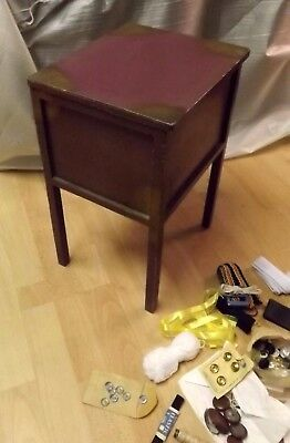 Vintage Sewing Box and items Buttons Zips Etc