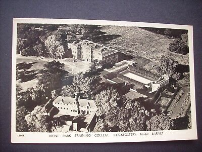 Old Aerial Rp Postcard Trent Park Training College, Cockfosters, Near Barnet