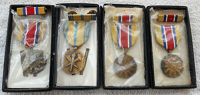 US Army Military Medals Achievement Boxed Set 1970's 80's Estate Lot of 4
