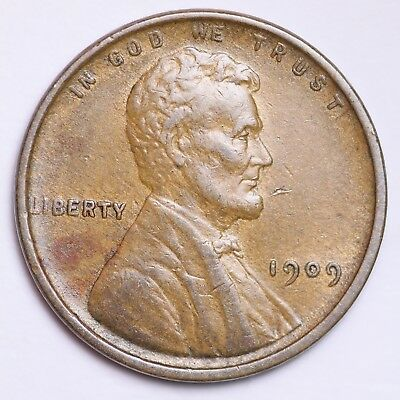 AU 1909 Lincoln Wheat Cent Penny FREE SHIPPING!