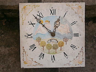 12x12 inch 30HR  c1860 LONGCASE  CLOCK dial + movement