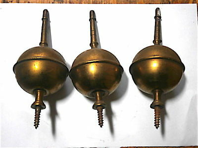 good set of 3  LONGCASE CLOCK spire finials c1760