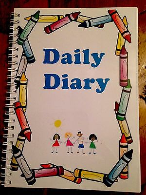 Childminder/Childminding Daily Diary Resources After School Children  A5 Blue