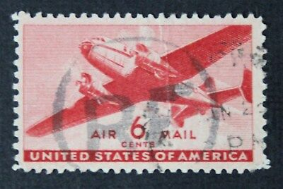CKStamps: US Air Mail Stamps Collection Scott#CM6 Used R.F. Overprint, Crease