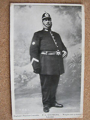 PC Stephens, Leicester, Leicestershire (England's Heaviest Constable) posted1907
