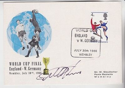 Stamps Football First Day Cover Signed England 1966 Hat Trick Legend Geoff Hurst