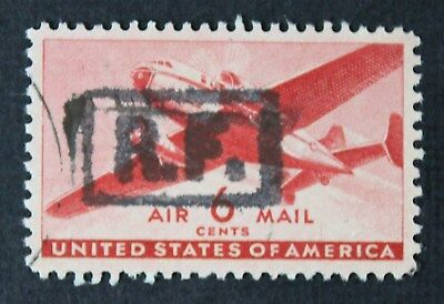 CKStamps: US Air Mail Stamps Collection Scott#CM7 Used R.F. Overprint