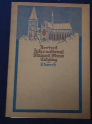 Revised International Stained Glass Catalog Church Blank Cover 1924