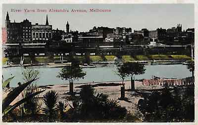 Melbourne, Australia - River Yarra from Alexandra Avenue - post card 1929