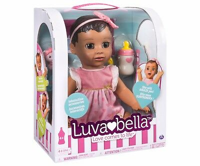 Luvabella Brunette Baby Girl Doll Interactive True to life expressions Authentic