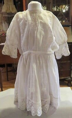 w315 Antique Lacy Victorian Dress for Antique Bisque French or German Doll
