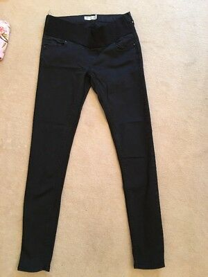 Topshop Maternity Jeans Leigh Size 8 Length 32 Black