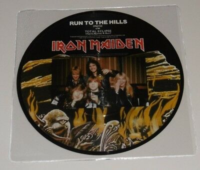 Iron Maiden - Run To The Hills - Total Eclipse - Picture Disc - Excellent