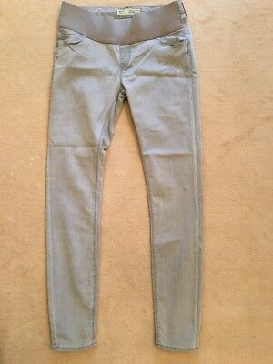 Topshop Maternity Jeans Leigh Size 8 Length 32 Light Grey
