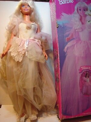 Large My Size Princess Barbie Doll 1995 With Box 36 Inches Tall Mattel