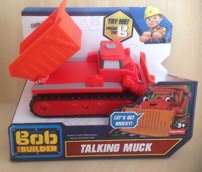 Bob the Builder TALKING MUCK Digger Toy Over 20 Sound + Phrases Fisher Price NEW