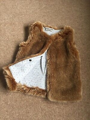 Girls Next Lovely Faux Fur Gillet / Bodywarmer Age 18 - 24 Months