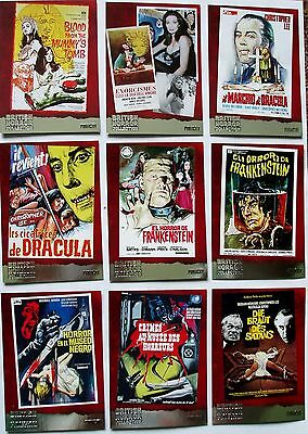 British Horror Collection 18 card foil chase set Hammer Unstoppable 2017