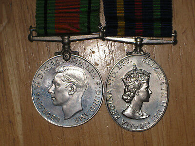 WW2 British Medal Group Defence and Civil Defence Long Service