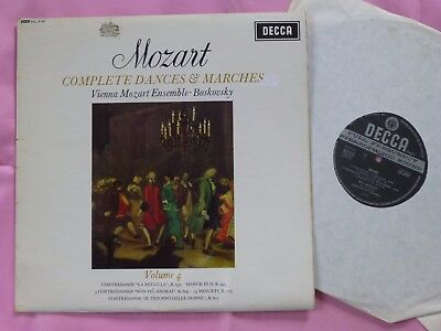 SXL 6197 MOZART Complete Dances and Marches Vol 4 Vienna Ensemble Boskovsky Wb