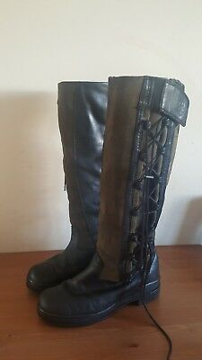 Black Ariat Grasmere women riding country boots size 5.5M