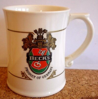 Beck's Brewery Miniature Porcelain Stein Tankard With Info Card (1980)